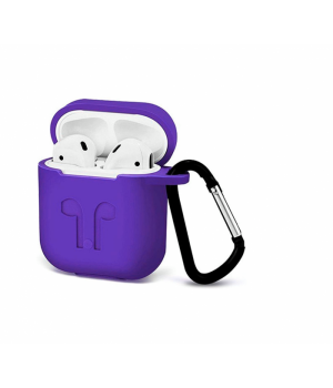 """Silicone Case AirPods (С КАРАБИНОМ) №12 """"Ultra Violet"""""""