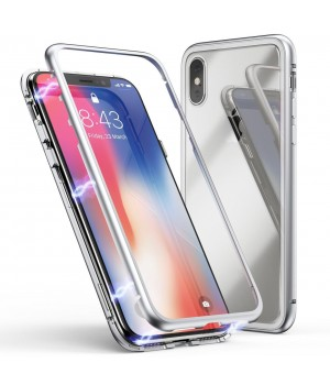 """MAGNETIC CASE iPhone X """"Silver"""""""