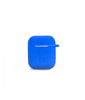 """Silicone Case AirPods (С КАРАБИНОМ) №11 """"Royal Blue"""""""