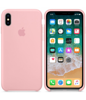 """Apple Silicone Case XS Max №12 """"Pink"""""""