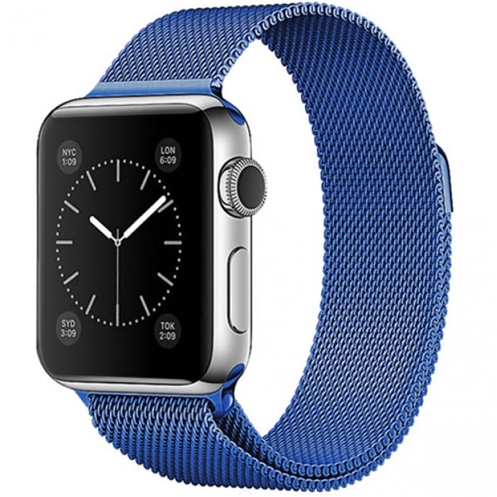 Milanese Loop Apple Watch Magnetic 38mm - Blue