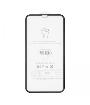 "5D BULLS Tempered Glass iPhone ""X"" [Black]"