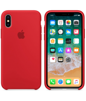 """Apple Silicone Case XS Max №14 """"Red"""""""