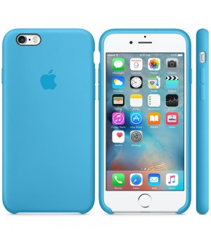 Apple Silicone Case 6/6s Plus Blue