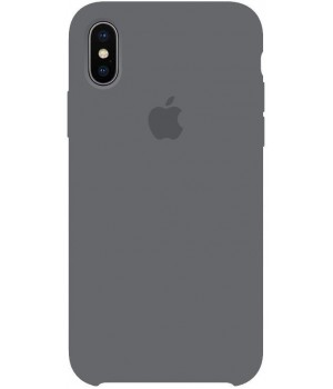"""Apple Silicone Case XS Max №15 """"Charcoal Grey"""""""
