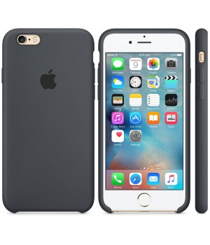 Apple Silicone Case 6/6s Plus Charcoal Grey