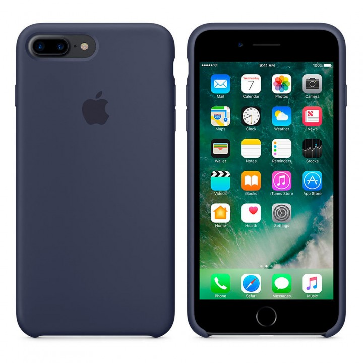 "Чехол Apple Silicone Case 7|8 №8 ""Midnighte Blue"""