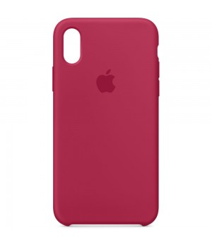 """Apple Silicone Case X №36 """"Rose Red"""""""