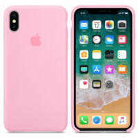 """Apple Silicone Case X №6 """"Light Pink"""""""