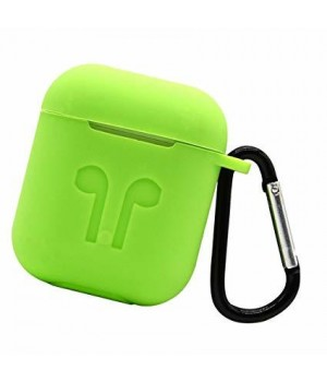 """Silicone Case AirPods (С КАРАБИНОМ) №8 """"Light Green"""""""