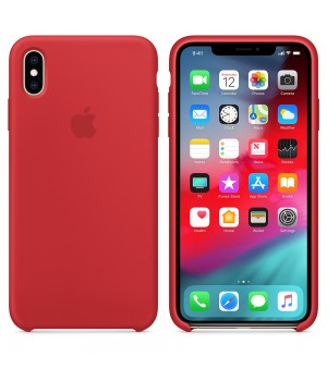 """Apple Silicone Case X №14 """"Red"""""""