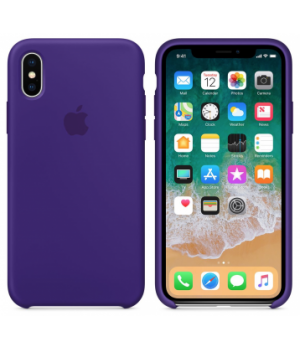"""Apple Silicone Case X №37 """"Ultra Violet"""""""