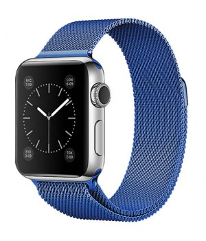 Milanese Loop Apple Watch Magnetic 42mm - Blue