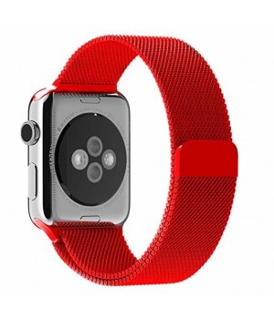 Milanese Loop Apple Watch Magnetic 42mm - Red