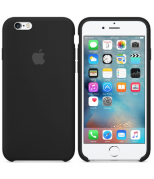 Apple Silicone Case 6/6s Plus Black