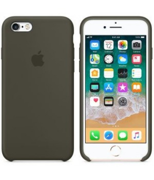 Apple Silicone Case 6/6s Plus Dark Olive