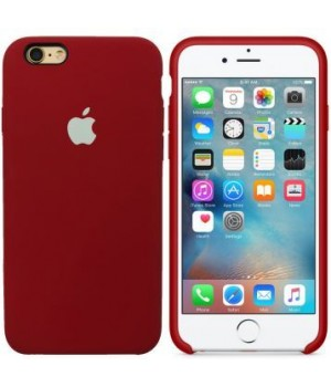 Apple Silicone Case 6/6s Plus Dark Red