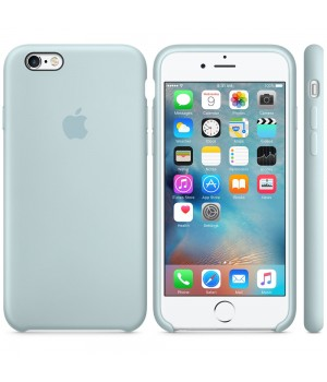 """Apple Silicone Case 6 6s №17 """"Turquoise"""""""