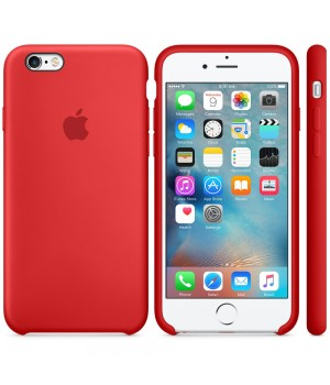 """Apple Silicone Case 6 6s №14 """"Red"""""""