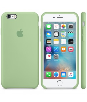 """Apple Silicone Case 6 6s №1 """"Mint"""""""