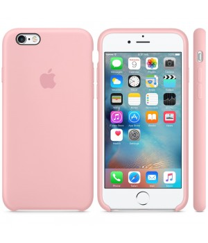 """Apple Silicone Case 6 6s №12 """"Pink"""""""