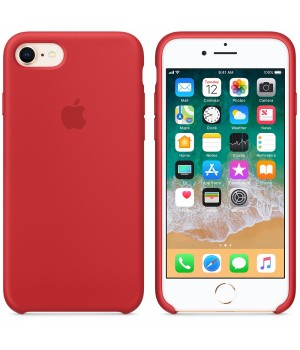 """Apple Silicone Case 7 8 №14 """"Red"""""""