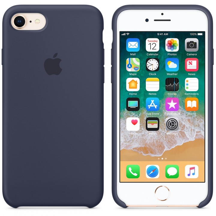 Чехол Apple Silicone Case 7/8 Midnighte Blue