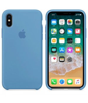 Apple Silicone Case X/XS Denim Blue