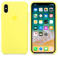 Apple Silicone Case X/XS Lemon