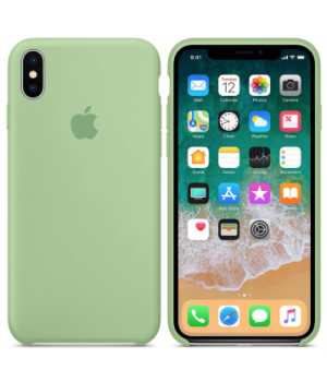"""Apple Silicone Case X №1 """"Mint"""""""