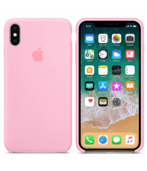 Apple Silicone Case XS Max Light Pink