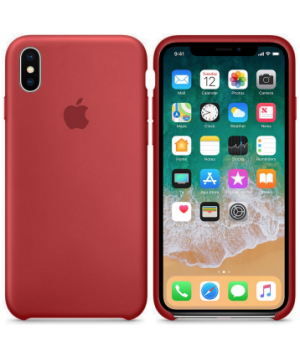 Apple Silicone Case XS Max Camelia Red